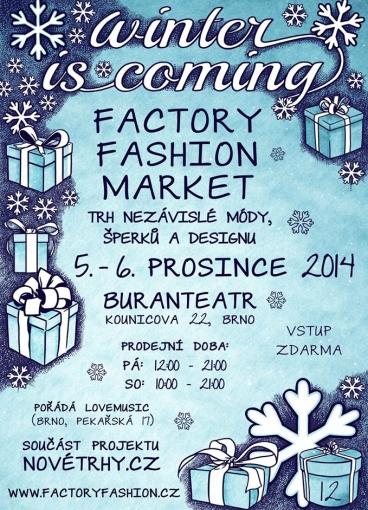 12. Factory Fashion Market začíná už za dva týdny v Brně